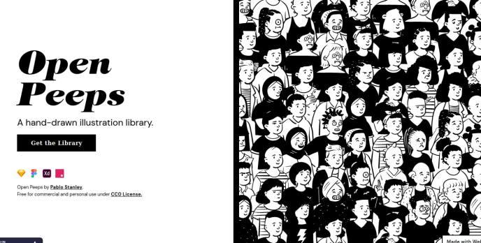 Open Peeps -- Hand-Drawn Illustration Library