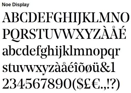 Noe Display typeface