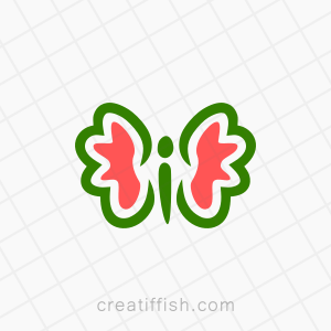 Colorful butterly nature logo