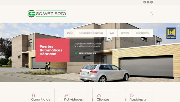 Web Montajes Eléctricos Gómez Soto