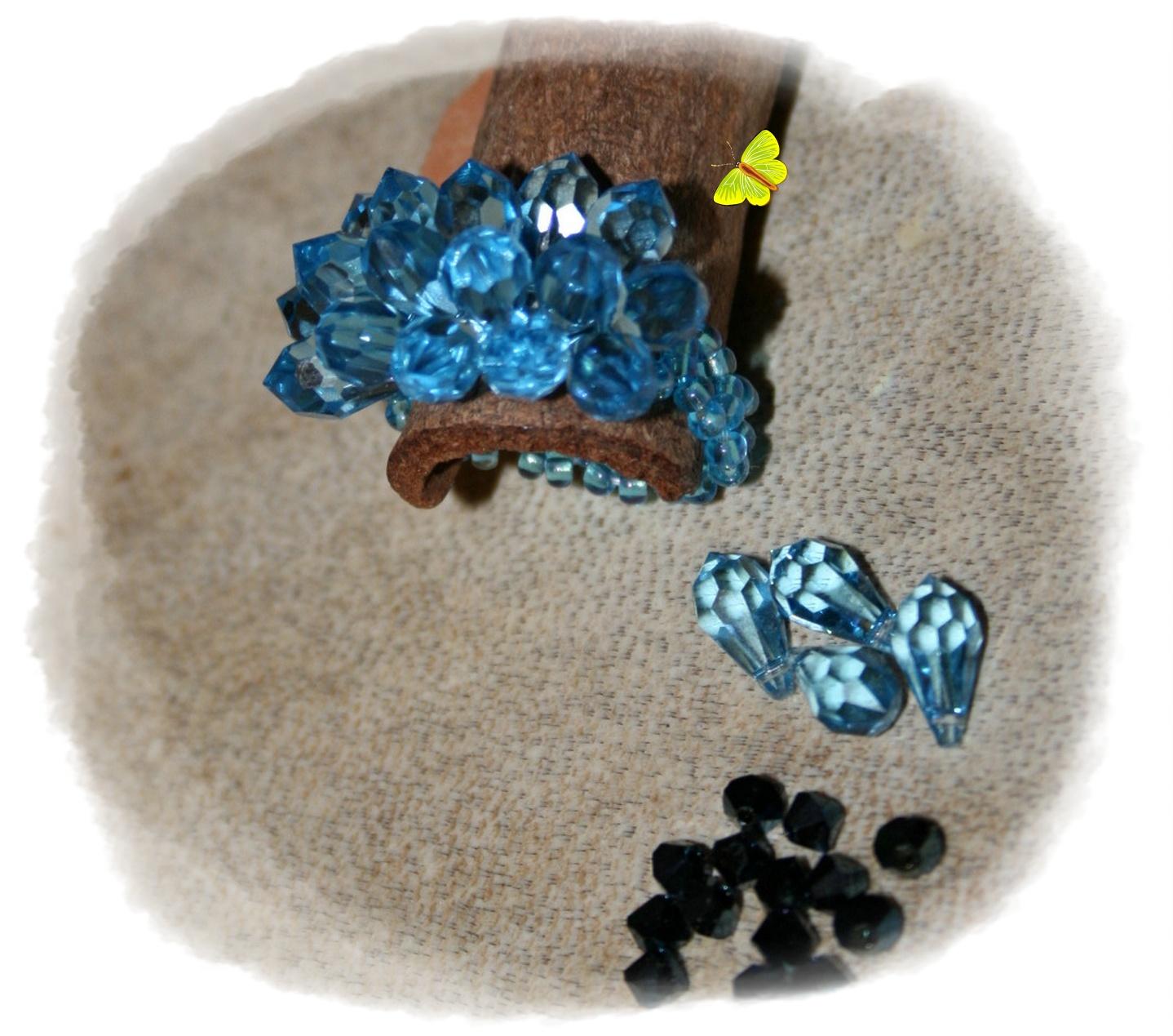 anillo lagrimas azul