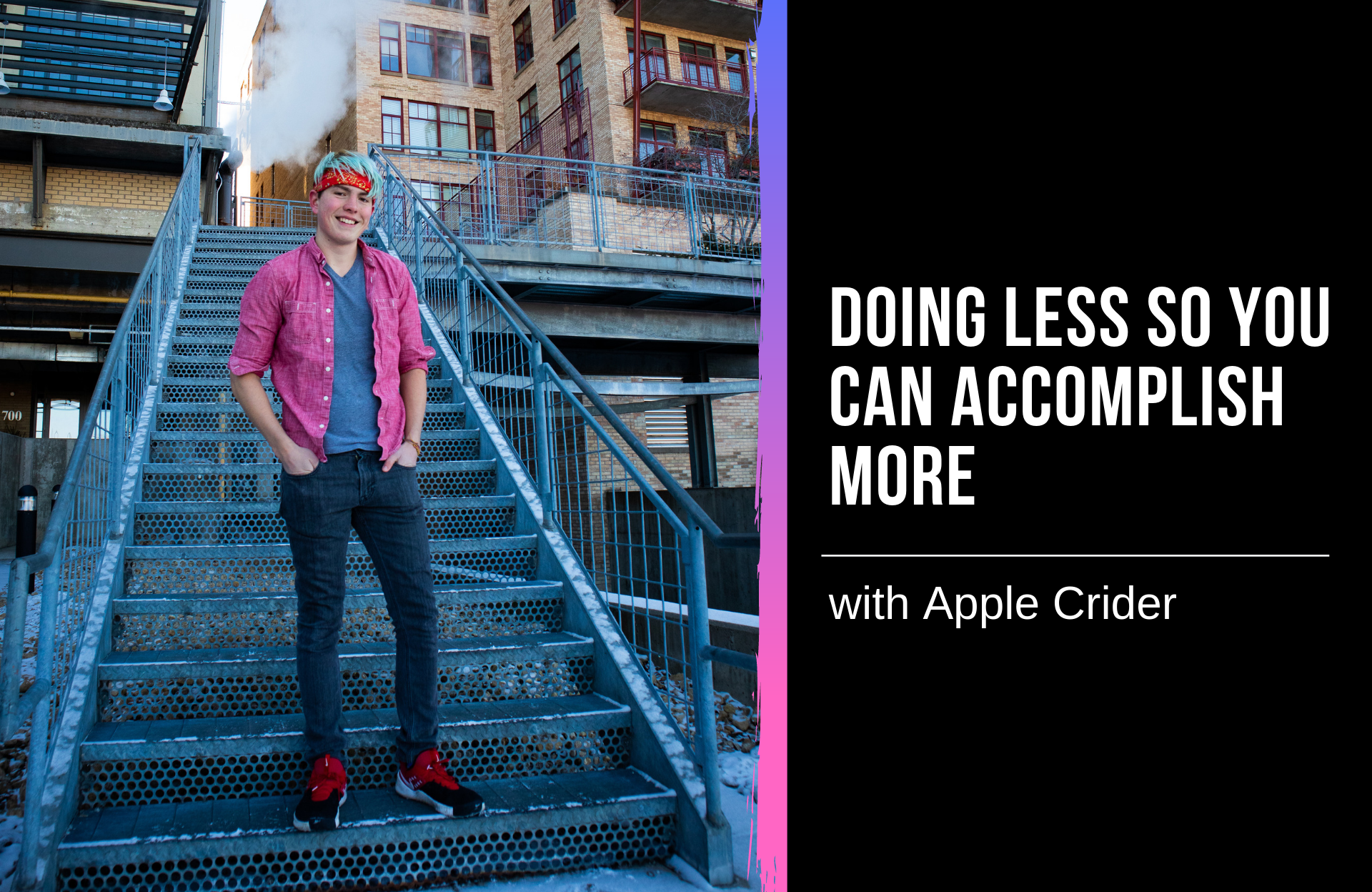 Doing Less so You Can Accomplish More with Apple Crider