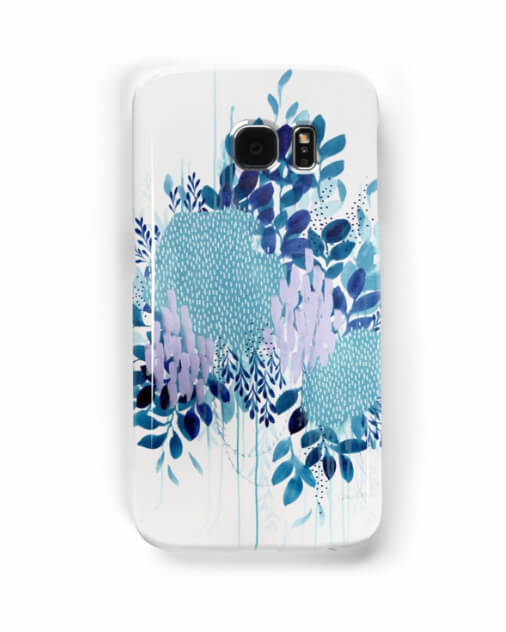 Learn how Artist Clair Bremner is Making Passive Income With Her Art: Floral Study One phone case by Clair Bremner