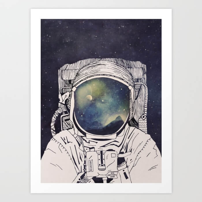 Learn How Artist Tracie Andrews Makes Passive Income With Her Art: Dreaming of Space by Tracie Andrews