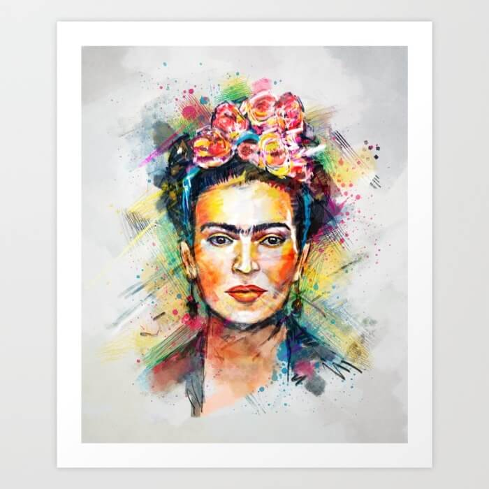 Learn How Artist Tracie Andrews Makes Passive Income With Her Art: Frida Kahlo by Tracie Andrews