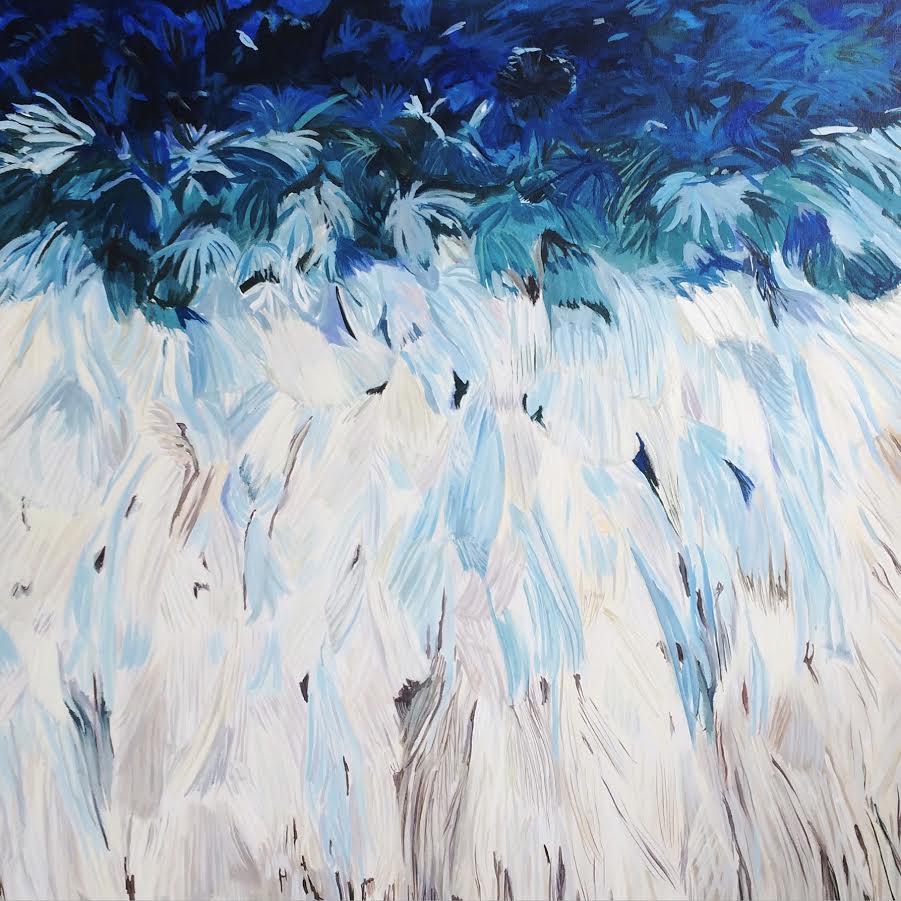 """JuJu"" 36x36""acrylic on canvas by Heather Kirtland"