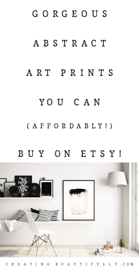 Abstract Art Prints You Can Buy On Etsy   CreatingBeautifully.com