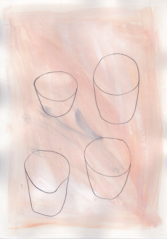 Abstract art you can buy on Etsy: Four Cups by Ana Frois