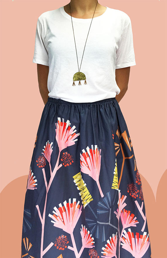 DoopsDesigns has some seriously cute printed clothes, like this Protea skirt!