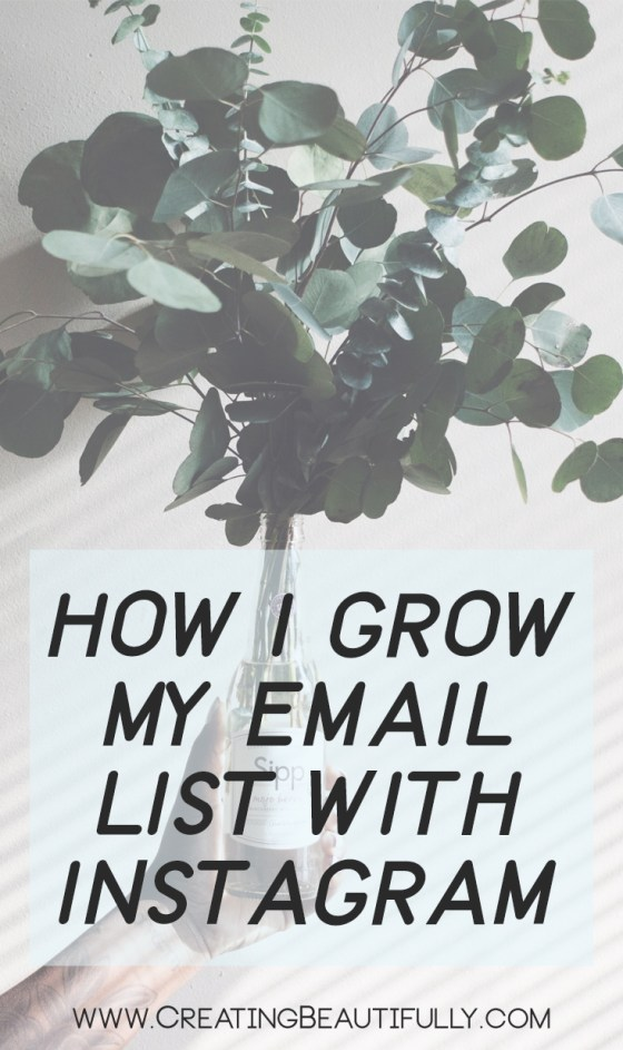 How I Grow My Email List With Instagram - I can't believe how easy this is, and it works!