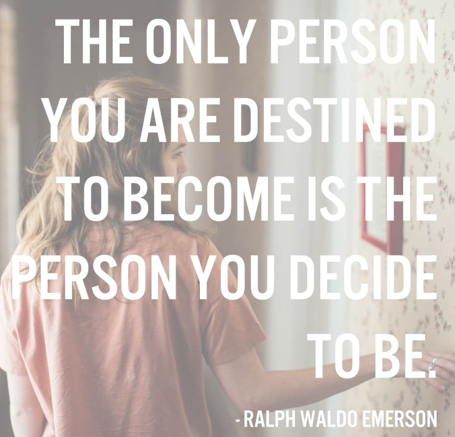 Ralph Waldo Emerson quote | posivite quotes for creatives on CreatingBeautifully.com
