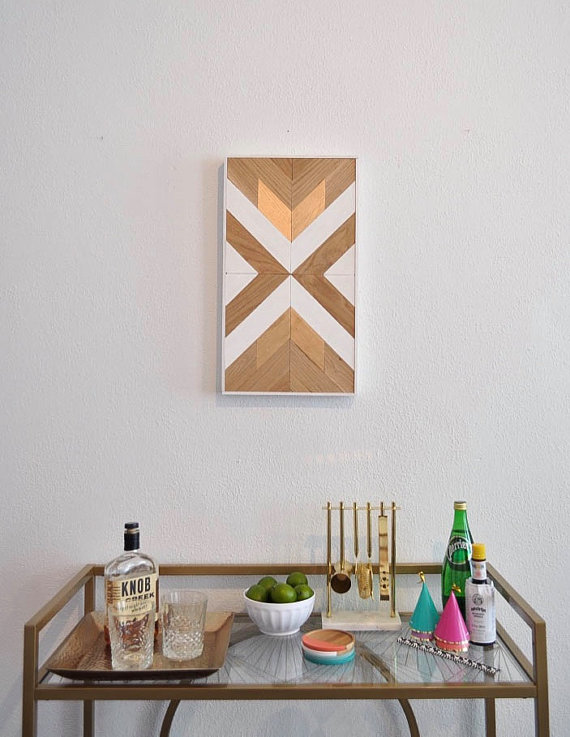 13 Modern DIYs to Try: DIY Wood Wall Art Kit