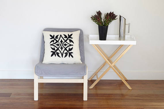 13 Modern DIYs to Try: Scandinavian needlepoint pillow kit