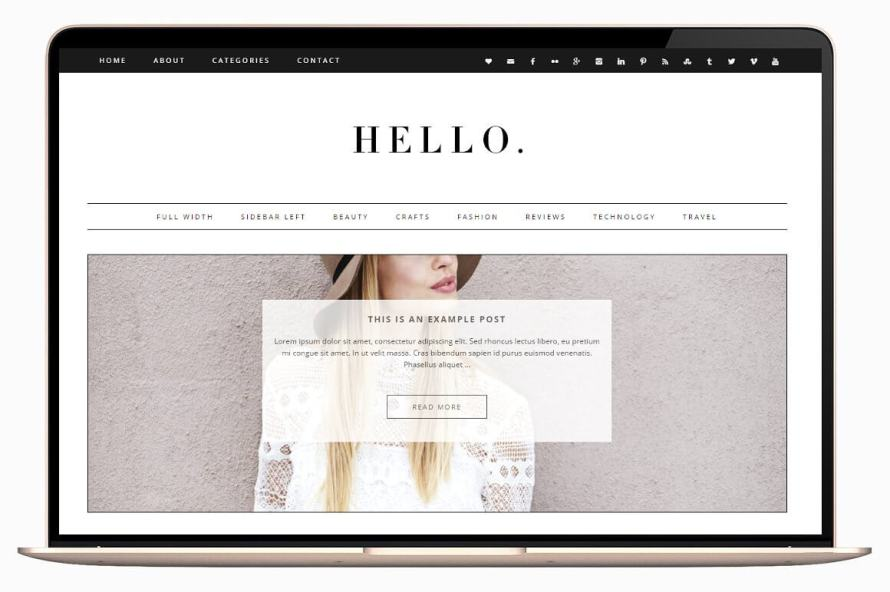 50 Modern, Minimal, Feminine WordPress Blog Themes: Hello