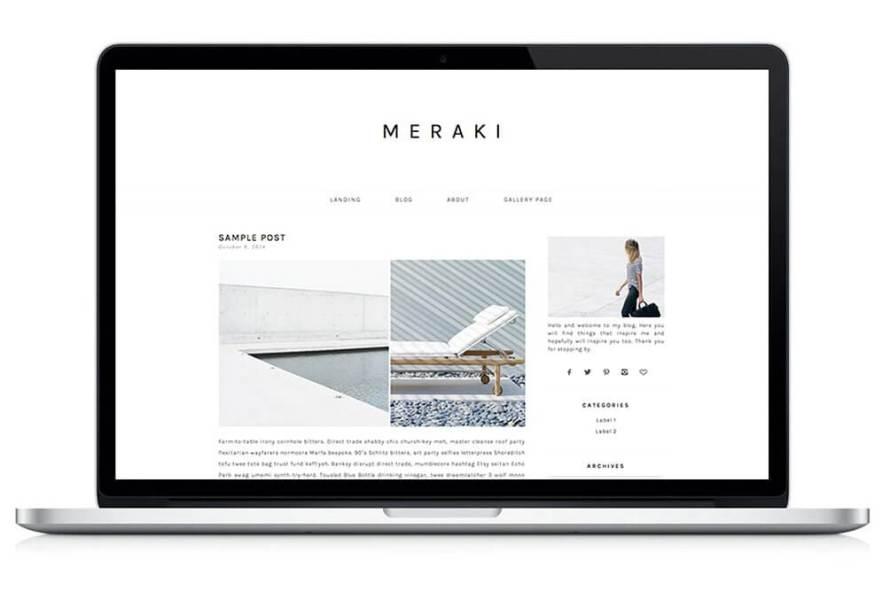 50 Modern, Minimal, Feminine WordPress Blog Themes: Meraki