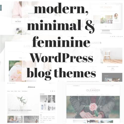 Check out this beautifully curated list of 50 Modern, Minimal, Feminine Wordpress Blog Themes!