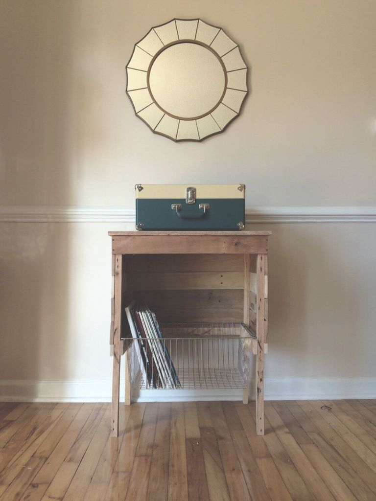 How to Take Better Photos for Your Etsy Shop | I love how the light falls on this reclaimed wood record holder from ReachandGrow on Etsy.
