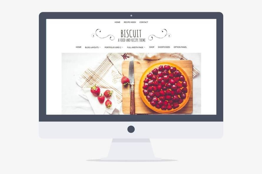 50 Modern, Minimal, Feminine WordPress Blog Themes: Biscuit