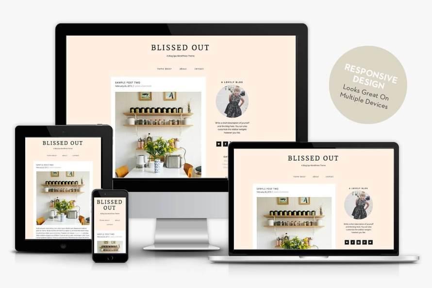 50 Modern, Minimal, Feminine WordPress Blog Themes: Blissed Out