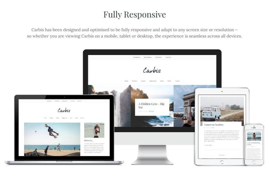 50 Modern, Minimal, Feminine WordPress Blog Themes: Carbis