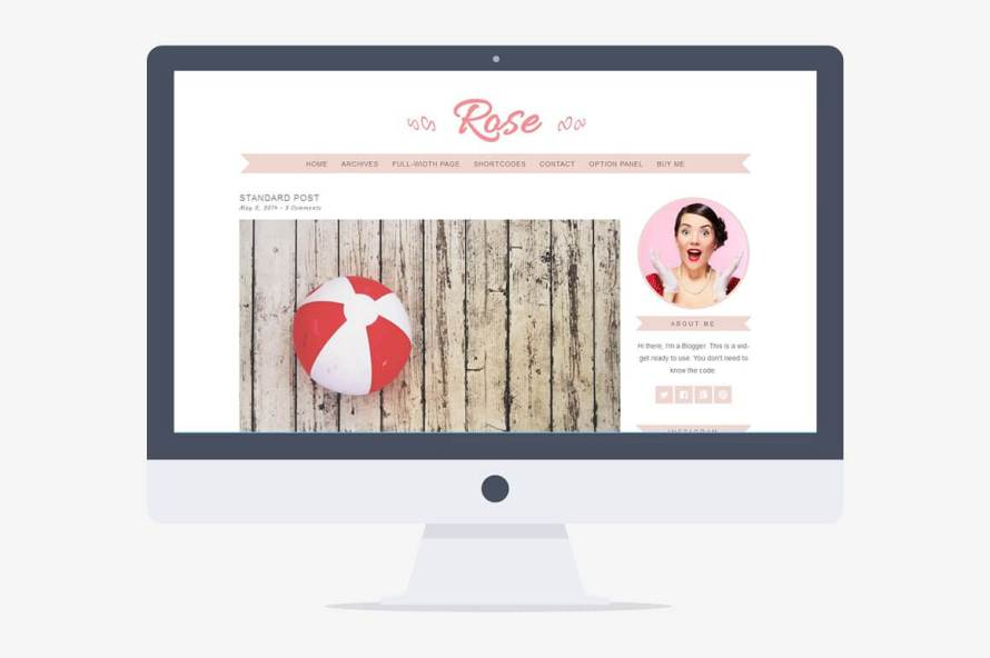 50 Modern, Minimal, Feminine WordPress Blog Themes: Rose