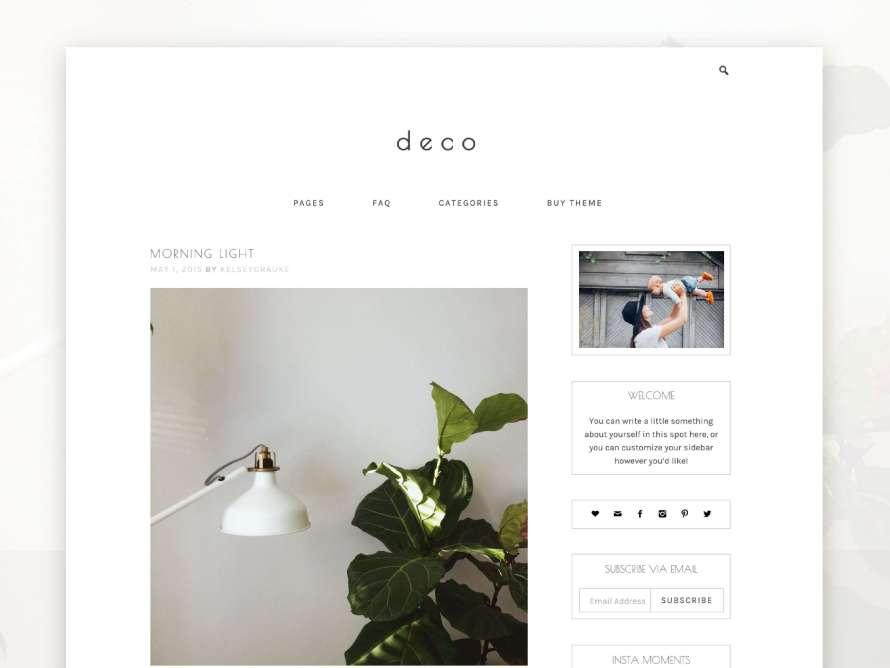 50 Modern, Minimal, Feminine WordPress Blog Themes: Deco