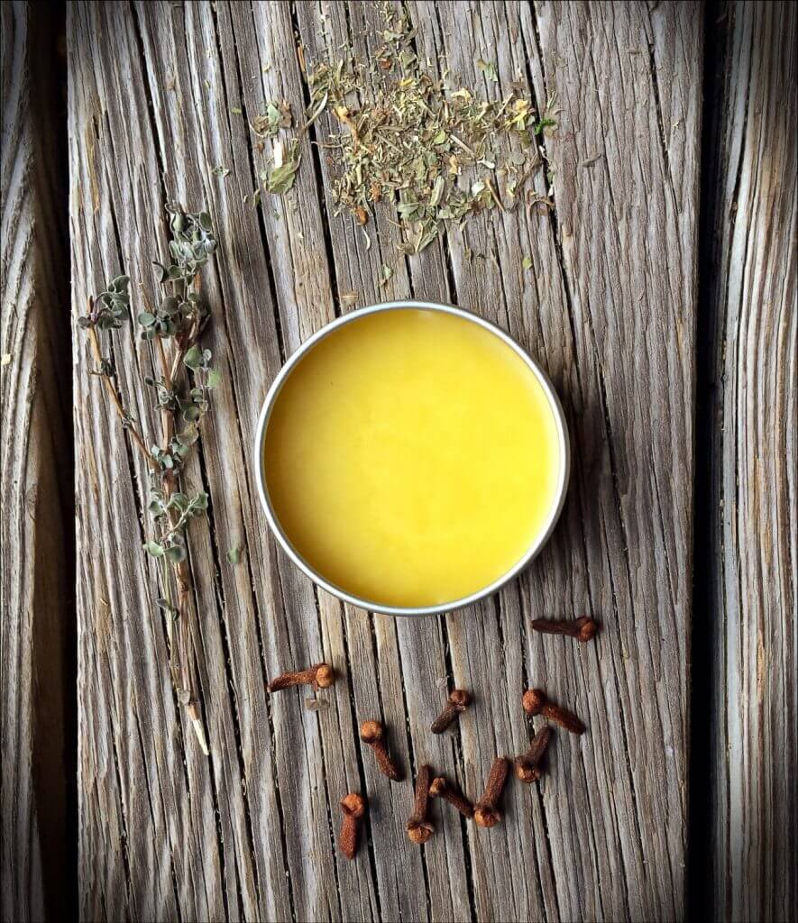 How to Take Better Photos for Your Etsy Shop | Including props looks best when understated, like the ingredients for this salve from shopwildearth.