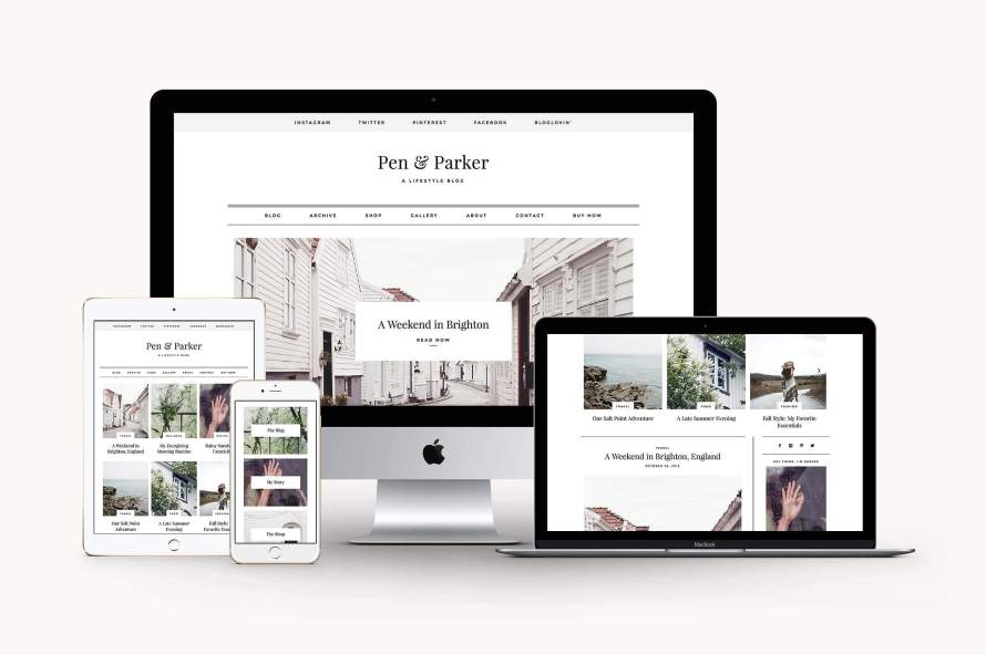 50 Modern, Minimal, Feminine WordPress Blog Themes: Parker
