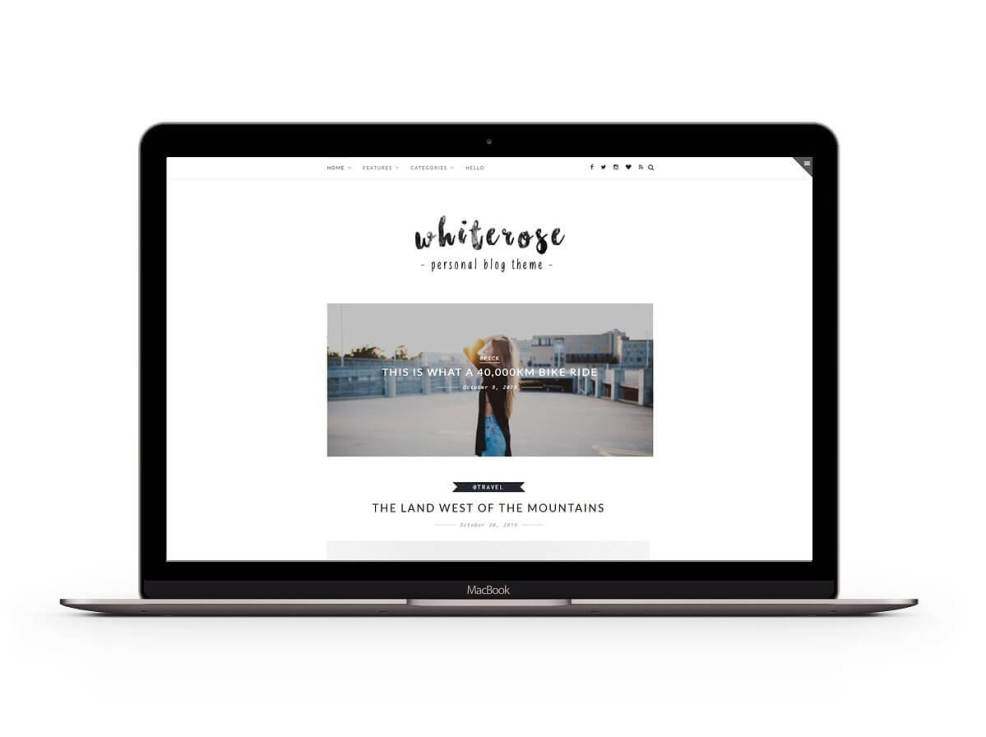 50 Modern, Minimal, Feminine WordPress Blog Themes: Z-White