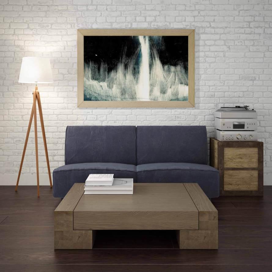 Meet the Artist: Adri Luna Studio. Dark Abstract Print by Adri Luna on CreatingBeautifully.com
