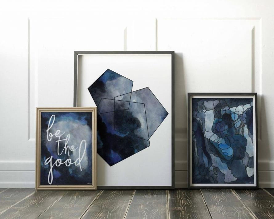 Meet the Artist: Adri Luna Studio. Gallery Wall Starter Pack by Adri Luna