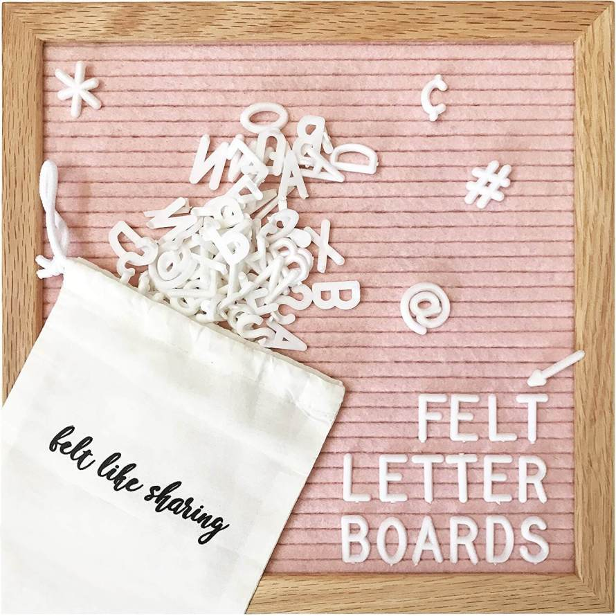 Speaking of Instagram worthy! This millennial pink felt letter board is everything!! What a beautiful gift for your favorite #GirlBoss. See more in this Fun Gift Guide for Entrepreneurs at www.CreatingBeautifully.com