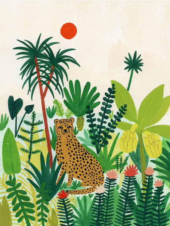 I love this Artsy Etsy Gift Guide! Especially this Cheetah print by Kate Pugsley!