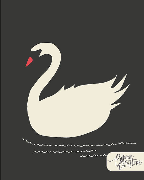 "I love this Artsy Etsy Gift Guide, including this Nightfall Swanling Print from ""Hello, Ollie"" by SweetBonnieChristine!"