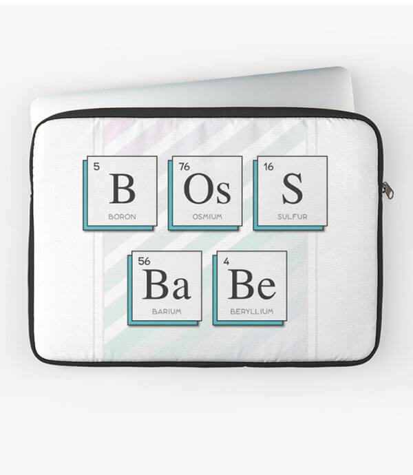 "Selling Art Passively on RedBubble: Meet Barlena. ""Boss Babe"" laptop sleeve by Barlena on RedBubble."