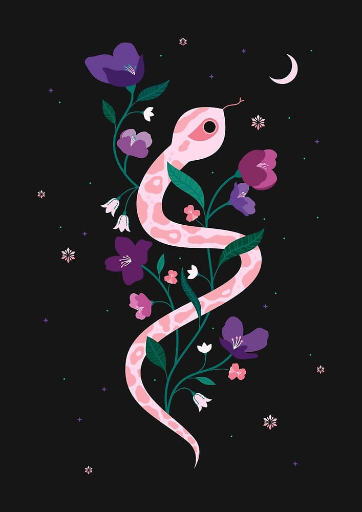 Snow Serpent by Carly Watts - Artists Making Passive Income on RedBubble: Meet Carly Watts on CreatingBeautifully.com