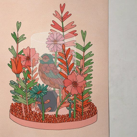 """Selling Art on Etsy, Meet the Artist Alexis Winter on CreatingBeautifully.com """"Allergies"""" illustration by Alexis Winter"""