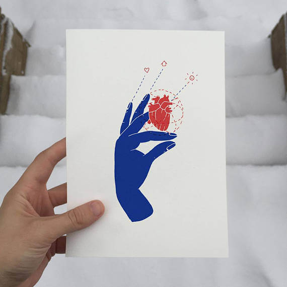 """Selling Art on Etsy, Meet the Artist Alexis Winter on CreatingBeautifully.com """"When The Heart Speaks"""" by Alexis Winter"""