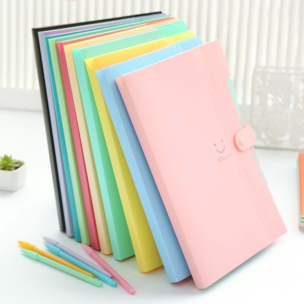 These Skydue Expanding File Folders are some one of the cutest office supplies ever!
