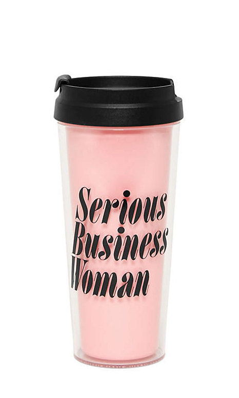 "This ""Serious Business Woman"" Thermal Mug is one of the cutest office supplies ever!"