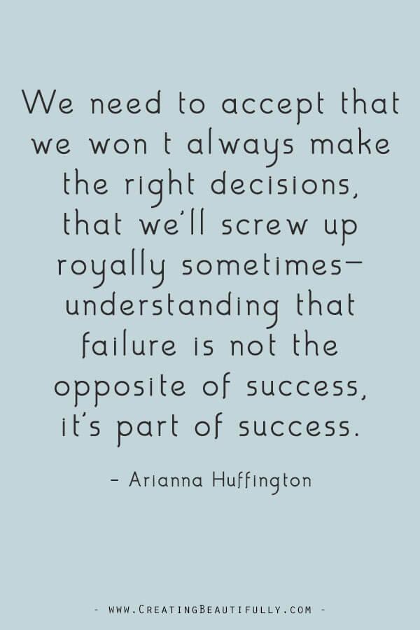 Inspiring Quotes from Powerful Women Entrepreneurs on CreatingBeautifully.com #inspiringquotes #quotesfromwomenentrepreneurs #girlbossquotes #AriannaHuffington