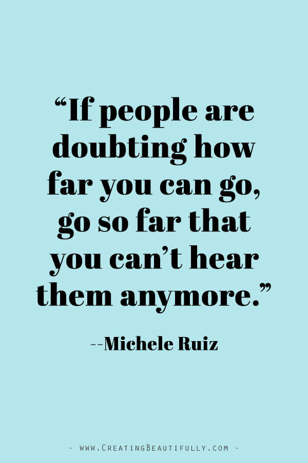 Inspiring Quotes from Powerful Women Entrepreneurs on CreatingBeautifully.com #inspiringquotes #quotesfromwomenentrepreneurs #girlbossquotes #MicheleRuiz