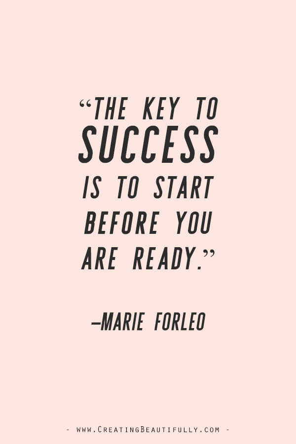 Inspiring Quotes from Powerful Women Entrepreneurs on CreatingBeautifully.com #inspiringquotes #quotesfromwomenentrepreneurs #girlbossquotes #MarieForleo
