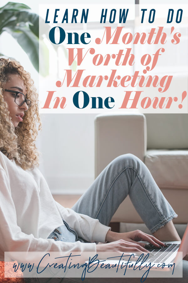 Learn how to do one's month's worth of online marketing in ONE hour Using Tailwind to Improve Your Pinterest Marketing Strategy! #pinteresttips #gettrafficfrompinterest #tailwind #howtousetailwindquickly