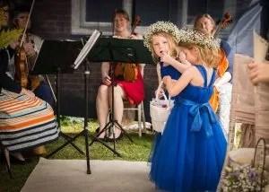 bridesmaids Creating Ceremony celebrant Sussex
