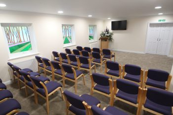 Ian Hart's Gordon Chapel in Worthing where you can have an unhurried funeral ceremony - Claire Bradford celebrant