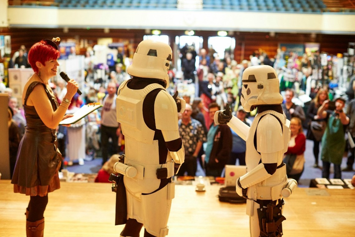 Stormtrooper wedding ceremony by Claire Bradford of Creating Ceremony photo by Ed Watts