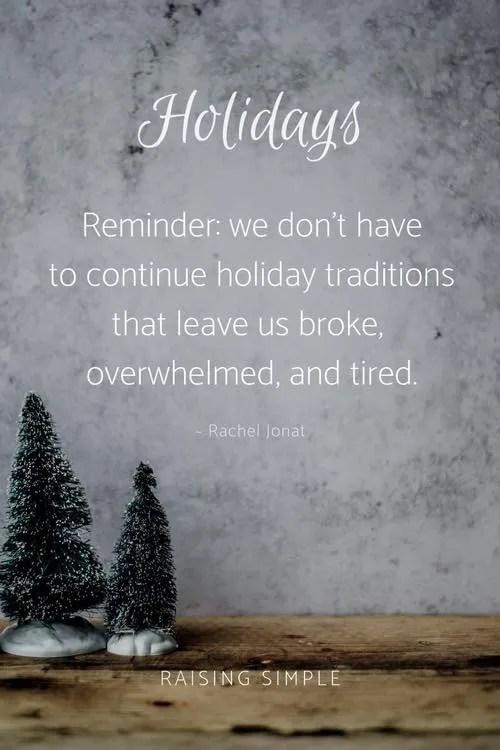 Christmas overwhelm Creating Ceremony