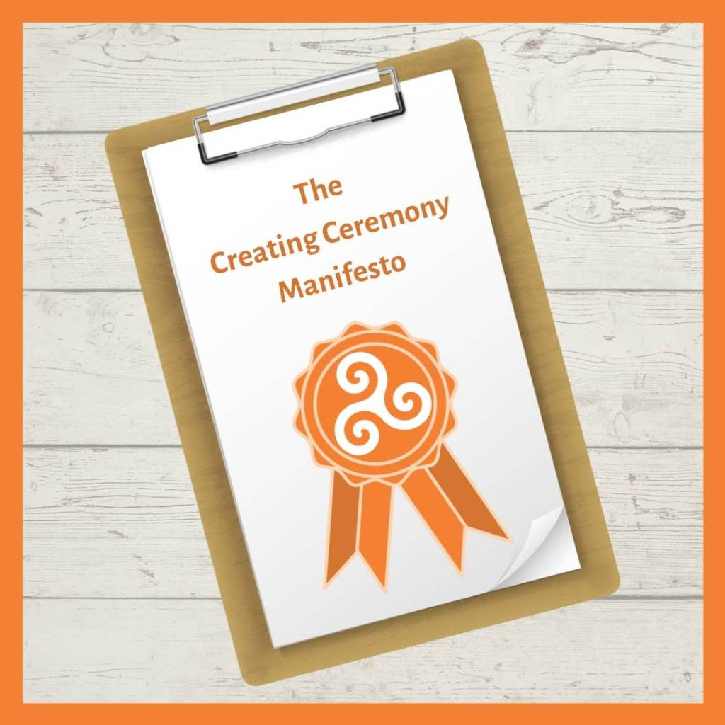 The Creating Ceremony Manifesto, by Sussex celebrant Claire Bradford