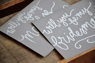 Gray Cardstock: Silver Maid of Honor, White Bridesmaid